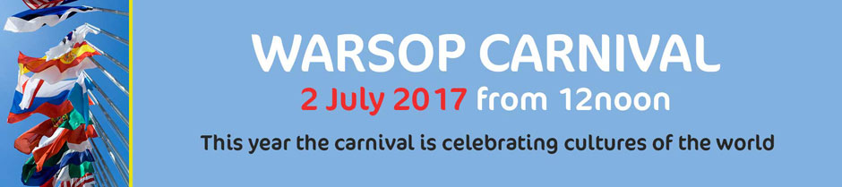 Warsop Carnival 2 July From 12 Noon